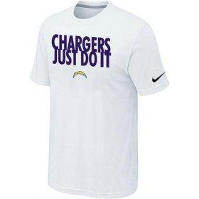Wholesale Cheap Nike San Diego Chargers Just Do It White T-Shirt