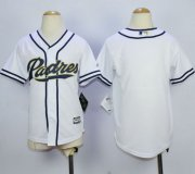 Wholesale Cheap Padres Blank White Home Cool Base Stitched Youth MLB Jersey