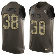 Wholesale Cheap Nike Colts #38 T.J. Carrie Green Men's Stitched NFL Limited Salute To Service Tank Top Jersey