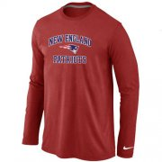 Wholesale Cheap Nike New England Patriots Heart & Soul Long Sleeve T-Shirt Red