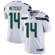 Wholesale Cheap Nike Seahawks #14 D.K. Metcalf White Men's Stitched NFL Vapor Untouchable Limited Jersey