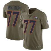 Wholesale Cheap Nike Broncos #77 Karl Mecklenburg Olive Men's Stitched NFL Limited 2017 Salute to Service Jersey