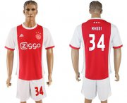 Wholesale Cheap Ajax #34 Nouri Home Soccer Club Jersey