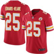 Wholesale Cheap Nike Chiefs #25 Clyde Edwards-Helaire Red Team Color Youth Stitched NFL Vapor Untouchable Limited Jersey