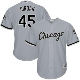 Wholesale Cheap White Sox #45 Michael Jordan Grey Road Cool Base Stitched Youth MLB Jersey