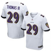 Wholesale Cheap Nike Ravens #29 Earl Thomas III White Men's Stitched NFL New Elite Jersey