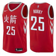 Wholesale Cheap Houston Rockets #25 Robert Horry Red Nike NBA Men's Stitched Swingman Jersey City Edition
