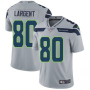 Wholesale Cheap Nike Seahawks #80 Steve Largent Grey Alternate Youth Stitched NFL Vapor Untouchable Limited Jersey