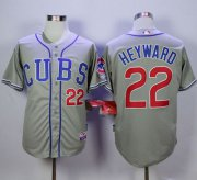 Wholesale Cheap Cubs #22 Jason Heyward Grey Alternate Road Cool Base Stitched MLB Jersey