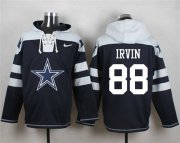 Wholesale Cheap Nike Cowboys #88 Michael Irvin Navy Blue Player Pullover NFL Hoodie