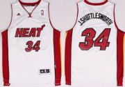 Wholesale Cheap Miami Heat Blank #34 J.Shuttlesworth Nickname White Swingman Jersey