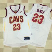 Wholesale Cheap Nike NBA Cleveland Cavaliers #23 LeBron James Jersey 2017-18 New Season White Jersey