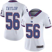 Wholesale Cheap Nike Giants #56 Lawrence Taylor White Women's Stitched NFL Limited Rush Jersey
