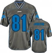 Wholesale Cheap Nike Lions #81 Calvin Johnson Grey Youth Stitched NFL Elite Vapor Jersey