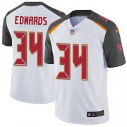 Wholesale Cheap Nike Buccaneers #34 Mike Edwards White Men's Stitched NFL Vapor Untouchable Limited Jersey