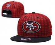 Wholesale Cheap 49ers Team Logo Red Black Adjustable Hat TX
