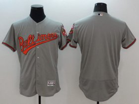 Wholesale Cheap Orioles Blank Grey Flexbase Authentic Collection Stitched MLB Jersey