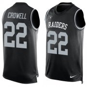 Wholesale Cheap Nike Raiders #22 Isaiah Crowell Black Team Color Men's Stitched NFL Limited Tank Top Jersey