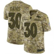 Wholesale Cheap Nike Broncos #30 Terrell Davis Camo Youth Stitched NFL Limited 2018 Salute to Service Jersey