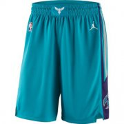Wholesale Cheap Men's Jordan Brand Teal Charlotte Hornets Icon Swingman Basketball Shorts
