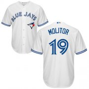 Wholesale Cheap Blue Jays #19 Paul Molitor White Cool Base Stitched Youth MLB Jersey