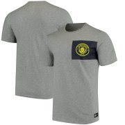 Wholesale Cheap Manchester City Nike Team Crest T-Shirt Heathered Gray