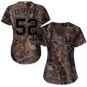 Wholesale Cheap Mets #52 Yoenis Cespedes Camo Realtree Collection Cool Base Women's Stitched MLB Jersey
