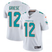Wholesale Cheap Nike Dolphins #12 Bob Griese White Men's Stitched NFL Vapor Untouchable Limited Jersey
