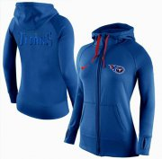 Wholesale Cheap Women's Nike Tennessee Titans Full-Zip Performance Hoodie Blue