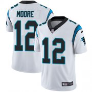 Wholesale Cheap Nike Panthers #12 DJ Moore White Men's Stitched NFL Vapor Untouchable Limited Jersey