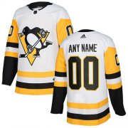 Wholesale Cheap Men's Adidas Penguins Personalized Authentic White Road NHL Jersey