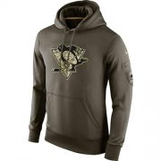 Wholesale Cheap Men's Pittsburgh Penguins Nike Salute To Service NHL Hoodie