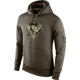 Wholesale Cheap Men\'s Pittsburgh Penguins Nike Salute To Service NHL Hoodie