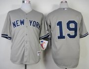 Wholesale Cheap Yankees #19 Masahiro Tanaka Grey Stitched MLB Jersey