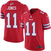 Wholesale Cheap Nike Bills #11 Zay Jones Red Men's Stitched NFL Limited Rush Jersey