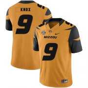 Wholesale Cheap Missouri Tigers 9 Jalen Knox Gold Nike College Football Jersey