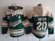 Wholesale Cheap Wild #20 Ryan Suter Green Sawyer Hooded Sweatshirt Stitched NHL Jersey