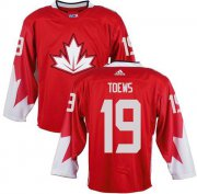 Wholesale Cheap Team Canada #19 Jonathan Toews Red 2016 World Cup Stitched Youth NHL Jersey