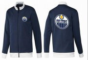Wholesale NHL Edmonton Oilers Zip Jackets Dark Blue