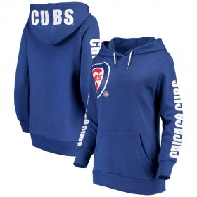 Wholesale Cheap Chicago Cubs G-III 4Her by Carl Banks Women\'s 12th Inning Pullover Hoodie Royal