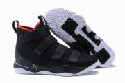 Wholesale Cheap Nike Lebron James Soldier 11 Shoes Black Red Black