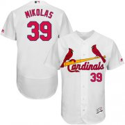 Wholesale Cheap Cardinals #39 Miles Mikolas White Flexbase Authentic Collection Stitched MLB Jersey