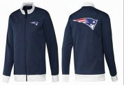 Wholesale Cheap NFL New England Patriots Team Logo Jacket Dark Blue