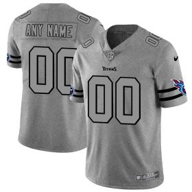 Wholesale Cheap Tennessee Titans Custom Men\'s Nike Gray Gridiron II Vapor Untouchable Limited NFL Jersey