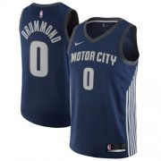 Wholesale Cheap Nike Detroit Pistons #0 Andre Drummond Navy NBA Swingman City Edition Jersey