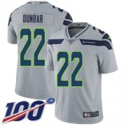 Wholesale Cheap Nike Seahawks #22 Quinton Dunbar Grey Alternate Youth Stitched NFL 100th Season Vapor Untouchable Limited Jersey