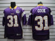 Wholesale Cheap Vikings #31 Chris Cook Purple Team 50TH Patch Stitched NFL Jersey
