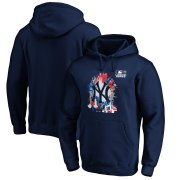 Wholesale Cheap New York Yankees Majestic 2019 London Series Splatter Pullover Hoodie Navy