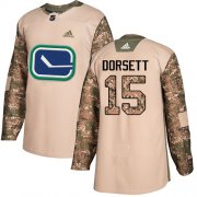 Wholesale Cheap Adidas Canucks #15 Derek Dorsett Camo Authentic 2017 Veterans Day Stitched NHL Jersey