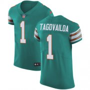 Wholesale Cheap Nike Dolphins #1 Tua Tagovailoa Aqua Green Alternate Men's Stitched NFL New Elite Jersey
